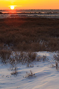 A sunrise on the tundra near Churchill Maintoba.