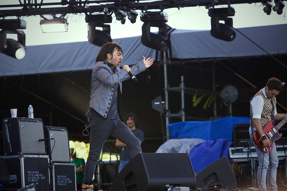 Babasonicos performing at Coachella 2010