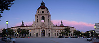City Hall at Dusk Panoramic, Pasadena, California