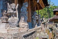 Statues and altar house at Pura Kehen Temple near Bangli in Eastern Bali Indonesia