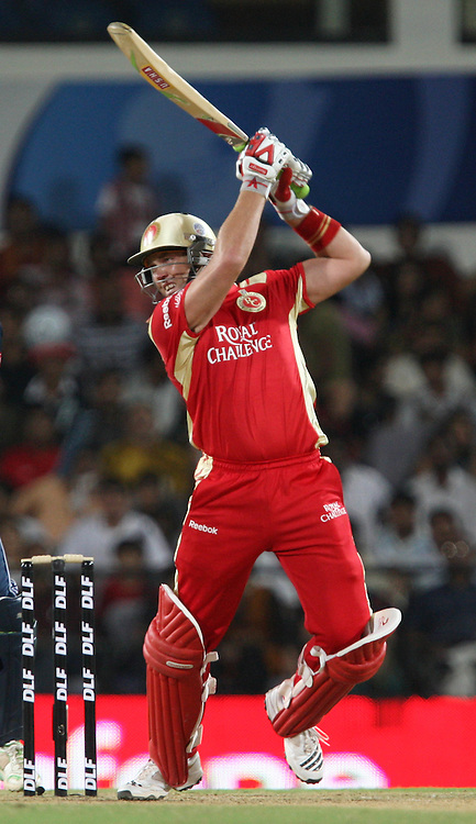 Royal Challengers Bangalore Batsman Jacques Kallis Hit The Shot During The Indian Premier League - 46th match Twenty20 match | 2009/10 season Played at Vidarbha Cricket Association Stadium, Jamtha, Nagpur 12 April 2010 - day/night (20-over match)