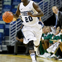 November 27, 2011; New Orleans, LA; San Diego Toreros guard Cameron Miles (20) against the Tulane Green Wave during the second half of the Hoops for Hope Classic at the New Orleans Arena. Tulane defeated San Diego 65-46. Mandatory Credit: Derick E. Hingle-US PRESSWIRE