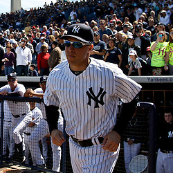March 4, 2012; Tampa Bay, FL, USA; New York Yankees first baseman Mark Teixeira (25) during spring training game against the Philadelphia Phillies at George M. Steinbrenner Field. Mandatory Credit: Derick E. Hingle-US PRESSWIRE