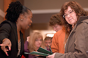 18516Appalachian Scholars Open House reception 12/10/07..Dr. Greta Oliver and Regina Rhodes(mom) from Gallipolis......Appalachian Scholars program: A Q&A.Information session scheduled tonight.Dec. 10, 2007.By George Mauzy..The Athens campus will host its third annual Appalachian Scholars information session for high school students and parents at 7 p.m. today in the Baker University Center Ballroom. Organizers will outline the program's requirements and answer questions...In anticipation of tonight's event, Outlook asked Associate Provost for Appalachian Access and Enrichment Programs Richard Greenlee to share his thoughts about the program. But first, some background...The Appalachian Scholars award, now in its second year, is a need-based, renewable four-year scholarship award valued at $10,000 each year. It includes an annual book stipend and participation in a yearly leadership seminar...The university has 20 Appalachian Scholars on five campuses, including 12 on the Athens campus and two on each regional campus except Lancaster, which is not in one of Ohio's 29 Appalachian counties. This fall's class of 10 recipients was chosen from more than 150 applicants...Last year's Appalachian Scholars information session, the first large-scale public event held in the new University Center, attracted more than 200 people. A similar crowd is expected tonight...The Eastern campus will host its info session at 6 p.m. Wednesday in Shannon Hall. The Chillicothe and Southern campuses have already held their sessions, and one is expected to be scheduled on the Zanesville campus in January...Why is the Appalachian Scholars program important?..It demonstrates the university's commitment to families and communities in the 29-county region by helping high school students attain a college education...The program teaches students and their families how to navigate the educational experience. It promotes economical sustainability and social mobility by providing the students with an e