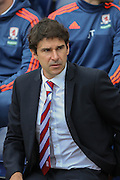 Aitor Karanka during the Sky Bet Championship match between Preston North End and Middlesbrough at Deepdale, Preston, England on 9 August 2015. Photo by Simon Davies.