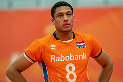 09-06-2019 NED: Golden League Netherlands - Spain, Koog aan de Zaan<br /> Fourth match poule B - The Dutch beat Spain again in five sets in the European Golden League / Fabian Plak #8 of Netherlands