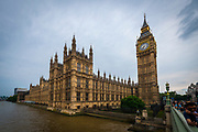 Palace of Westminster and Elizabeth Tower, London, England