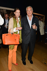GEORGIE RYLANCE and GIUSEPPE CIARDI  at the Christie's Conservation Lectures in aid of Tusk held atChristie's, 8 King Street, London on 30th April 2014.