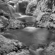 Sweet Creek Lower Cascade Falls - Mapleton, Oregon - HDR - Infrared Black & White