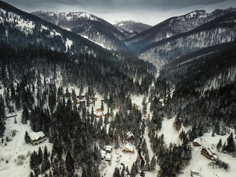 Pylypets and Borzava Range, Ukraine
