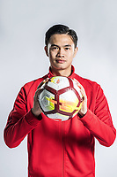 **EXCLUSIVE**Portrait of Chinese soccer player Yin Congyao of Chongqing Dangdai Lifan F.C. SWM Team for the 2018 Chinese Football Association Super League, in Chongqing, China, 27 February 2018.