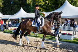 SCHNEIDER Dorothee (GER), Faustus 94<br /> Siegerehrung/Meisterehrung<br /> Longines Großer Optimum Preis <br /> präsentiert von das Meggle GmbH & Co. KG<br /> Nat. Dressurprüfung Kl. S**** - Grand Prix Kür <br /> Finale Deutsche Meisterschaften<br /> Balve Optimum - Deutsche Meisterschaft Dressur 2020<br /> 20. September2020<br /> © www.sportfotos-lafrentz.de/Stefan Lafrentz