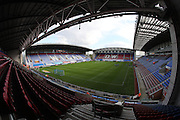 A general view of the stadium before the EFL Sky Bet Championship match between Wigan Athletic and Brighton and Hove Albion at the DW Stadium, Wigan, England on 22 October 2016.