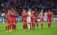 FUSSBALL CHAMPIONS LEAGUE SAISON 2017/2018 GRUPPENPHASE FC Bayern Muenchen  -  RSC Anderlecht             12.09.2017 SCHHLUSSJUBEL FC Bayern Muenchen; Arjen Robben,  Jerome Boateng, Corentin Tolisso, Thomas Mueller, Torwart Manuel Neuer, Niklas Suele, Kingsley Coman, Robert Lewandowski und Thiago Alcantara (v.li.)