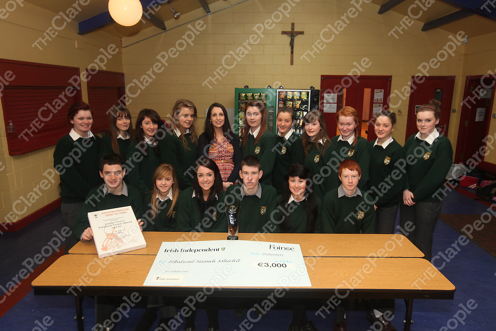 The Club Gaeilge Gaga at Kilmihils St Michaels Community School on Monday.<br /> Pic. Brian Arthur/ Press 22.