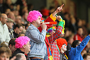 Leyton Orient fans protest against the clubs ownership, during the EFL Sky Bet League 2 match between Leyton Orient and Hartlepool United at the Matchroom Stadium, London, England on 17 April 2017. Photo by Andrew Lewis.