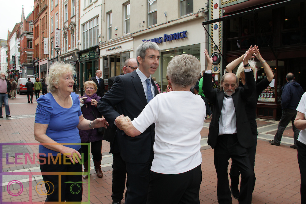 "Members of Older People's organisations and friends mark European Year of Active Ageing and Solidarity between the Generations on Dublin's Grafton Street...Europe Day 9 May: Celebrating the older generation..Today, 9 May, is Europe Day and this year it's all about the European Year of Active Ageing and Solidarity Between the Generations. ..The celebrations kicked off with a flash mob of older and younger people dancing together to music from a live swing band in Grafton Street in front of Bewley's Cafe...A video of the flash mob will be available later today on youtube: http://www.youtube.com/user/EUIRELAND..This year's Europe Day celebrates the concept of Active Aging and Solidarity between Generations by turning stereotypes on their heads...Barbara Nolan, Head of the European Commission's Representation in Ireland said: ""By challenging the stereotypes which lead to discrimination against older people, older people themselves are also challenged to redefine their own roles. The fact of the matter is that the older people in our society are a valuable but often untapped resource."".   .Celebrations went on with a free open doors event in European Union House. Minister of State for European Affairs, Lucinda Creighton T.D., and Members of more than 20 voluntary and public bodies involved in Ireland 's year of Active Ageing attended. Live music was provided by The Swing Cats and snacks from EU Member State embassy kitchens were served. . .For more Information regarding the European Year of Active Ageing and Solidarity Between the Generations in Ireland see:.http://www.activeageing.ie/  . ."