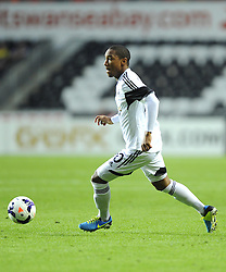 "Swansea City's Jonathan de Guzman  - Photo mandatory by-line: Joe Meredith/JMP - Tel: Mobile: 07966 386802 22/08/2013 - SPORT - FOOTBALL - Liberty Stadium - Swansea -  Swansea City V Petrolul Ploiesti - Europa League Play-Off EDITORIAL USE ONLY. No use with unauthorised audio, video, data, fixture lists, club/league logos or ""live"" services. Online in-match use limited to 45 images, no video emulation. No use in betting, games or single club/league/player publications"