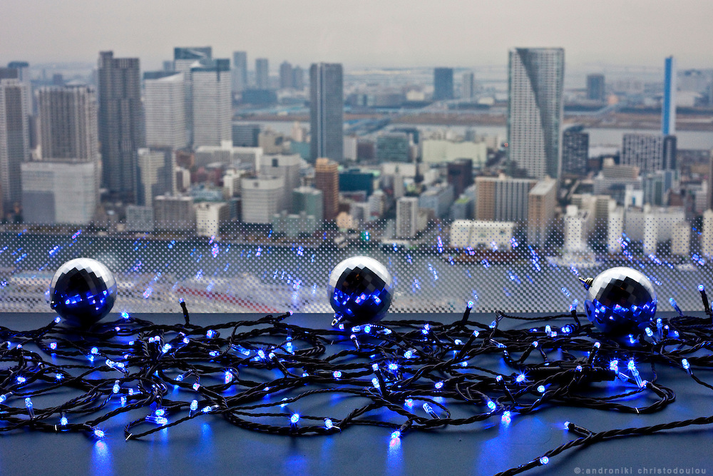 Tokyo cityscape as seen from Kareta tower in Shimbashi