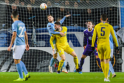 February 14, 2019 - MalmÅ, Sweden - 190214 Lasse Nielsen of MalmÅ¡ FF and Olivier Giroud of Chelsea during the Europa league match between MalmÅ¡ FF and Chelsea on February 14, 2019 in MalmÅ¡..Photo: Petter Arvidson / BILDBYRN / kod PA / 92225 (Credit Image: © Petter Arvidson/Bildbyran via ZUMA Press)