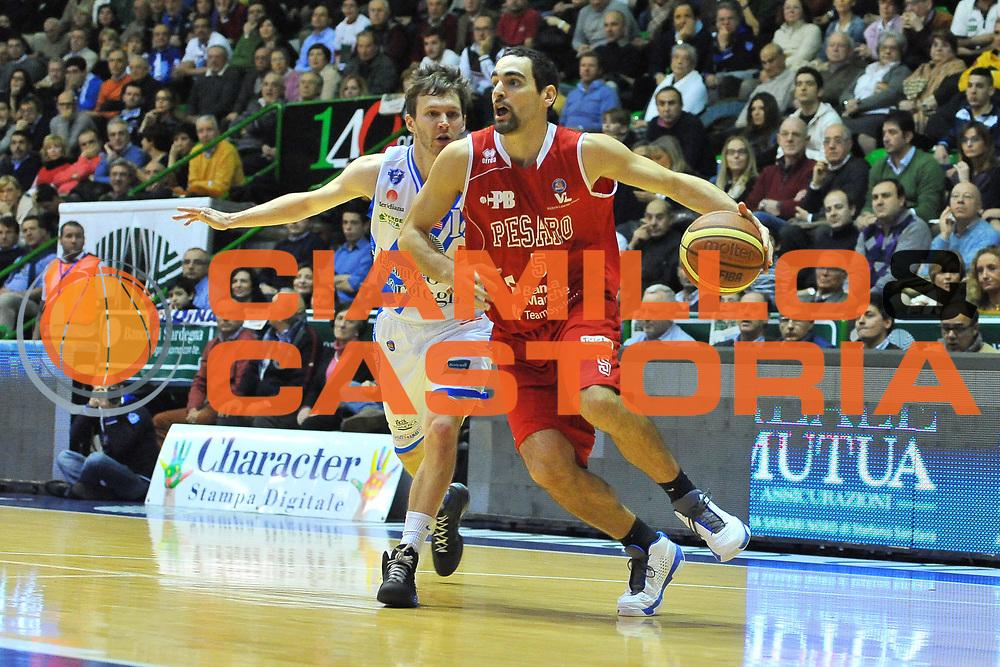 DESCRIZIONE : Campionato 2013/14 Dinamo Banco di Sardegna Sassari - Victoria Libertas Pesaro<br /> GIOCATORE : Bernardo Musso<br /> CATEGORIA : Palleggio Penetrazione<br /> SQUADRA : Victoria Libertas Pesaro<br /> EVENTO : LegaBasket Serie A Beko 2013/2014<br /> GARA : Dinamo Banco di Sardegna Sassari - Victoria Libertas Pesaro<br /> DATA : 02/03/2014<br /> SPORT : Pallacanestro <br /> AUTORE : Agenzia Ciamillo-Castoria / Luigi Canu<br /> Galleria : LegaBasket Serie A Beko 2013/2014<br /> Fotonotizia : Campionato 2013/14 Dinamo Banco di Sardegna Sassari - Victoria Libertas Pesaro<br /> Predefinita :