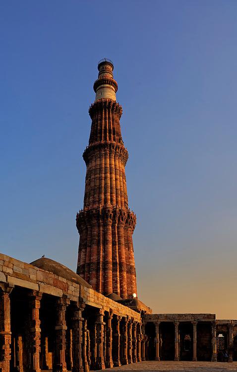 Qutub Minar, Delhi, India.
