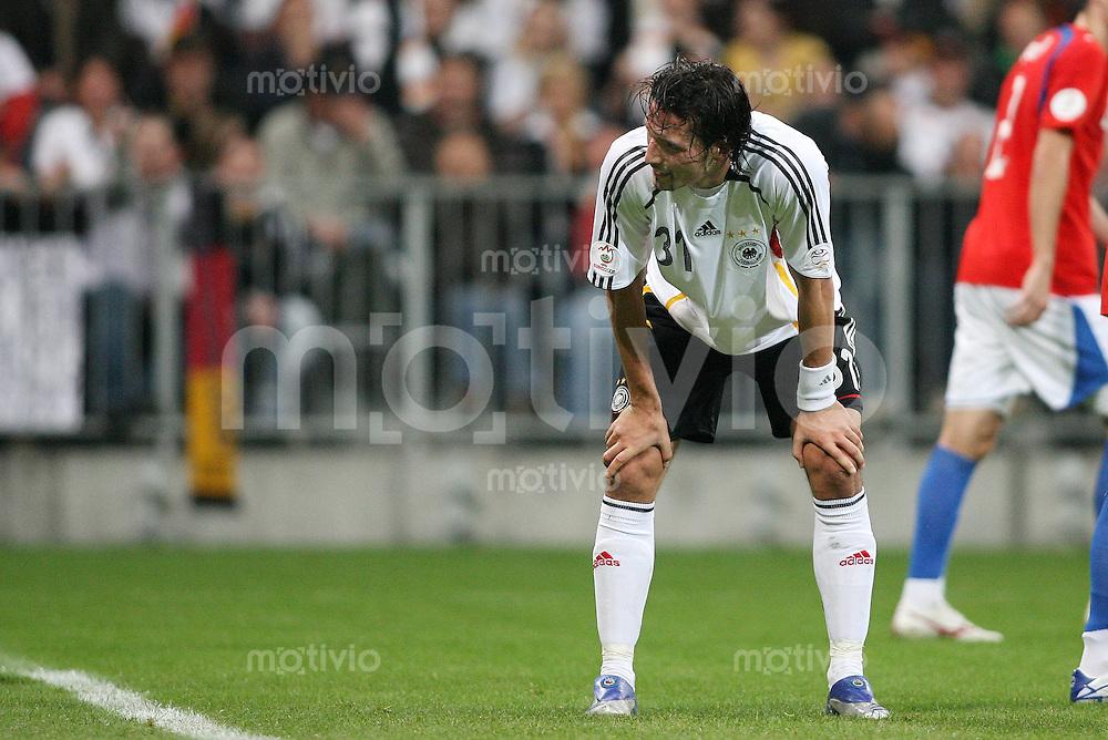 Fussball    International     EM Qualifikation   17.09.2007 Deutschland  - Tschechien Enttaeuscghung GER; Kevin Kuranyi
