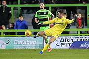 Forest Green Rovers goalkeeper James Montgomery during the EFL Sky Bet League 2 match between Forest Green Rovers and Crewe Alexandra at the New Lawn, Forest Green, United Kingdom on 22 December 2018.