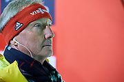 Poland, Wisla Malinka - 2017 November 18:  FIS Race director Walter Hofer looks at the top of ski jumping hill during FIS Ski Jumping World Cup Wisla 2017/2018 - Day 2 at jumping hill of Adam Malysz on November 18, 2017 in Wisla Malinka, Poland.<br /> <br /> Mandatory credit:<br /> Photo by &copy; Adam Nurkiewicz<br /> <br /> Adam Nurkiewicz declares that he has no rights to the image of people at the photographs of his authorship.<br /> <br /> Picture also available in RAW (NEF) or TIFF format on special request.<br /> <br /> Any editorial, commercial or promotional use requires written permission from the author of image.