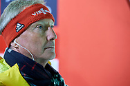 Poland, Wisla Malinka - 2017 November 18:  FIS Race director Walter Hofer looks at the top of ski jumping hill during FIS Ski Jumping World Cup Wisla 2017/2018 - Day 2 at jumping hill of Adam Malysz on November 18, 2017 in Wisla Malinka, Poland.<br /> <br /> Mandatory credit:<br /> Photo by © Adam Nurkiewicz<br /> <br /> Adam Nurkiewicz declares that he has no rights to the image of people at the photographs of his authorship.<br /> <br /> Picture also available in RAW (NEF) or TIFF format on special request.<br /> <br /> Any editorial, commercial or promotional use requires written permission from the author of image.