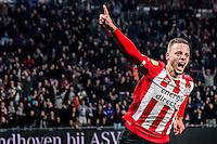 EINDHOVEN - PSV - Sparta Rotterdam , Voetbal , Eredivisie , Seizoen 2016/2017 , Philips Stadion , 22-10-2016 , PSV speler Bart Ramselaar viert de 1-0 die hij scoort