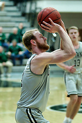 BLOOMINGTON, IL - December 15: Colin Bonnett during a college basketball game between the IWU Titans  and the Carroll Pioneers on December 15 2018 at Shirk Center in Bloomington, IL. (Photo by Alan Look)