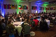 People gather in Baker Ballroom to listen to Eric Weiner present during International Education Week on Nov. 16, 2017.
