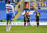 Bolton Wanderers midfielder Liam Feeney and Bolton Wanderers midfielder Darren Pratley restart the match after going 1-0 down during the Sky Bet Championship match between Reading and Bolton Wanderers at the Madejski Stadium, Reading, England on 21 November 2015. Photo by Adam Rivers.