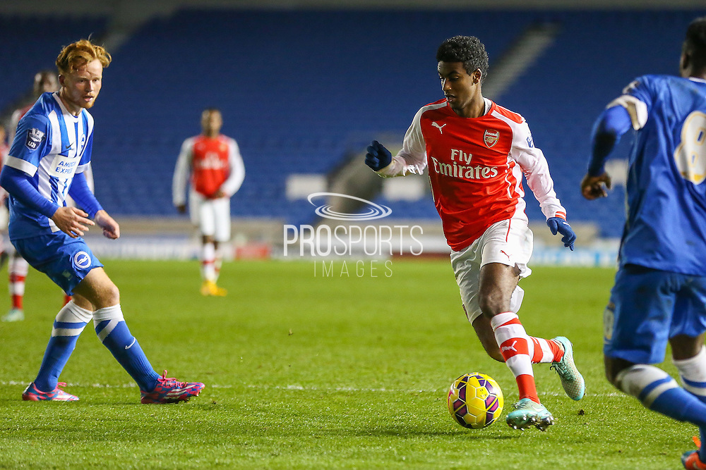 Arsenal's Gedion Zelalem during the Barclays U21 Premier League match between Brighton U21 and Arsenal U21 at the American Express Community Stadium, Brighton and Hove, England on 1 December 2014.