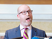 Paul Nuttall MEP <br /> UKIP Leader makes a Brexit speech #SixKeysTests at the Marriott Hotel, London, Great Britain <br /> 27th March 2017 <br /> <br /> Ahead of the Prime Minister triggering Article 50 next week, UKIP Leader Paul Nuttall sets out six key tests by which the country can judge Theresa May's Brexit negotiations in a keynote speech on this coming Monday morning.<br /> <br /> <br /> Photograph by Elliott Franks <br /> Image licensed to Elliott Franks Photography Services