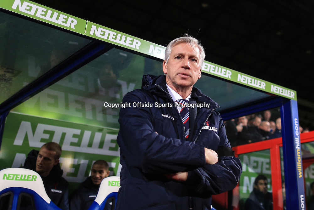 10 January 2015 - Barclays Premier League - Crystal Palace v Tottenham Hotspur - Alan Pardew manager of Crystal Palace - Photo: Marc Atkins / Offside.