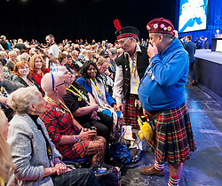 Pictured: delegates gather at the start of the conference.<br /> <br /> The first day of the SNP autumn conference at the SEC in glasgow.<br /> <br /> &copy; Dave Johnston / EEm