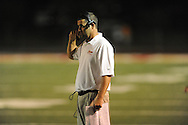 Lafayette High coach Eric Robertson vs. Tupelo in Oxford, Miss. on Friday, August 22, 2014. Tupelo won the season opener 20-0.