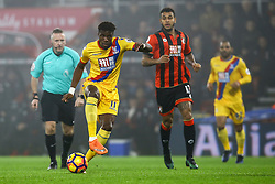 Wilfried Zaha of Crystal Palace on the attack - Mandatory by-line: Jason Brown/JMP - 31/01/2017 - FOOTBALL - Vitality Stadium - Bournemouth, England - Bournemouth v Crystal Palace - Premier League