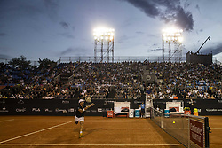 RIO DE JANEIRO, Feb. 24, 2019  Pablo Cuevas of Uruguay makes a bad return during the men's singles semifinal between Felix Auger-Aliassime of Canada and Pablo Cuevas of Uruguay at the Rio open 2019 tournament in Rio de Janeiro, Brazil, on Feb. 23, 2019. (Credit Image: © Xinhua via ZUMA Wire)