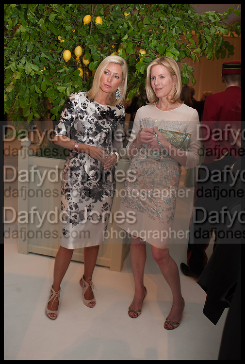 MARIE CHANTAL PRINCESS OF GREECE; SYDNEY FINCH, Cartier dinner in celebration of the Chelsea Flower Show. The Palm Court at the Hurlingham Club, London. 19 May 2014.