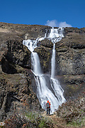 Rjukandi waterfall in East Iceland
