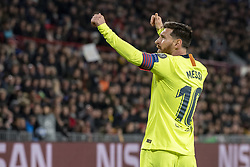 November 28, 2018 - Eindhoven, Netherlands - Lionel Messi of Barcelona celebrates scoring during the UEFA Champions League Group B match between PSV Eindhoven and FC Barcelona at Philips Stadium in Eindhoven, Netherlands on November 28, 2018  (Credit Image: © Andrew Surma/NurPhoto via ZUMA Press)