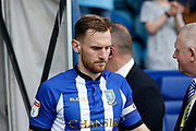 Tom Lees of Sheffield Wednesday leads the team out during the EFL Sky Bet Championship match between Sheffield Wednesday and Bristol City at Hillsborough, Sheffield, England on 22 April 2019.