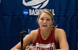 March 19, 2010; Stanford, CA, USA;  Stanford Cardinal forward/center Jayne Appel (2) before the first round game of the 2010 NCAA Womens Division I Championship at Maples Pavilion.
