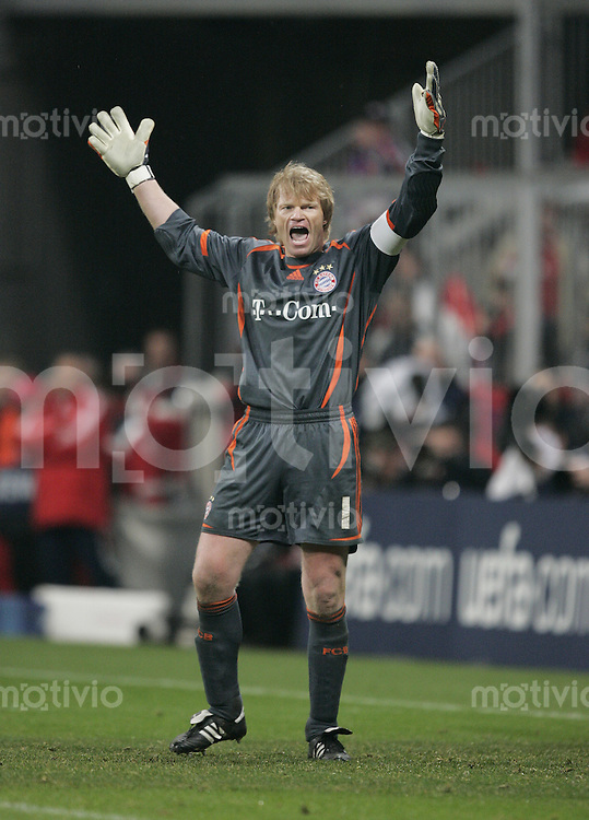 Fussball  Champions League Achtelfinale in Muenchen FCB Bayern Muenchen - Real Madrid  07.03.07  Oliver Kahn
