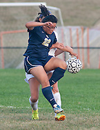 Warwick, New York - Newburgh Free Academy plays Warwick in a varsity girls' soccer game on Sept. 30, 2014.