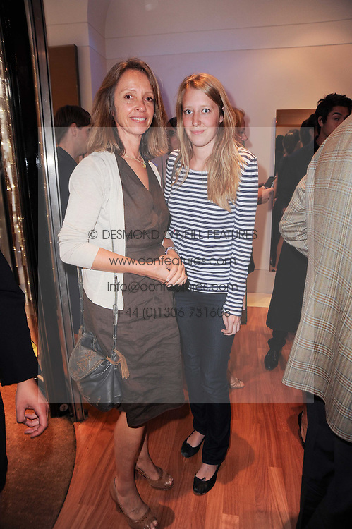 Left to right, SABRINA GUINNESS and ALICE ROTHSCHILD at a party to celebrate the B.zero 1 design by Anish Kapoor held at Bulgari, 168 New Bond Street, London n 2nd June 2010.