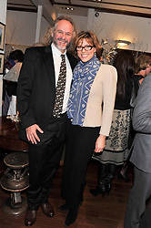 PATRICK MAVROS and KATE SILVERTON at the Lewa Wildlife Conservancy debate held at Patrick Mavros, 104-106 Fulham Road, London on 21st November 2012.